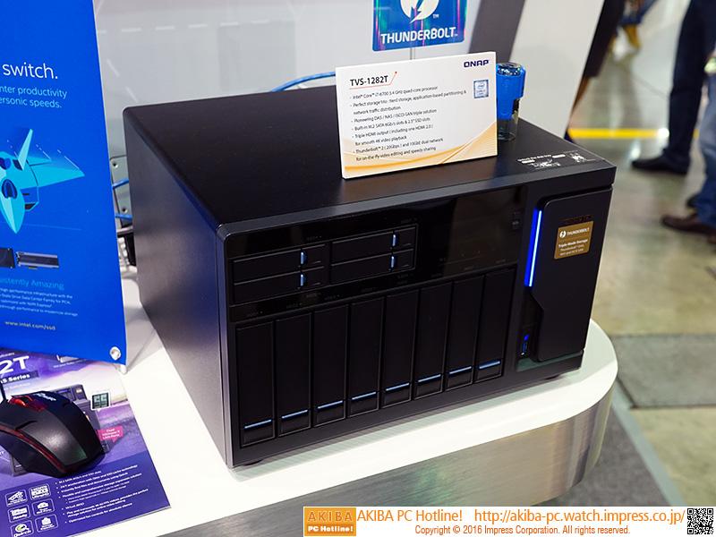 M.2 SSDをキャッシュに使える3.5インチ×8ベイ + 2.5インチ×4ベイの「TVS-1282T」。