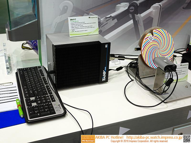 各種計測器具など、業務用の機器とともPCレスで連携するデモも用意されていた。