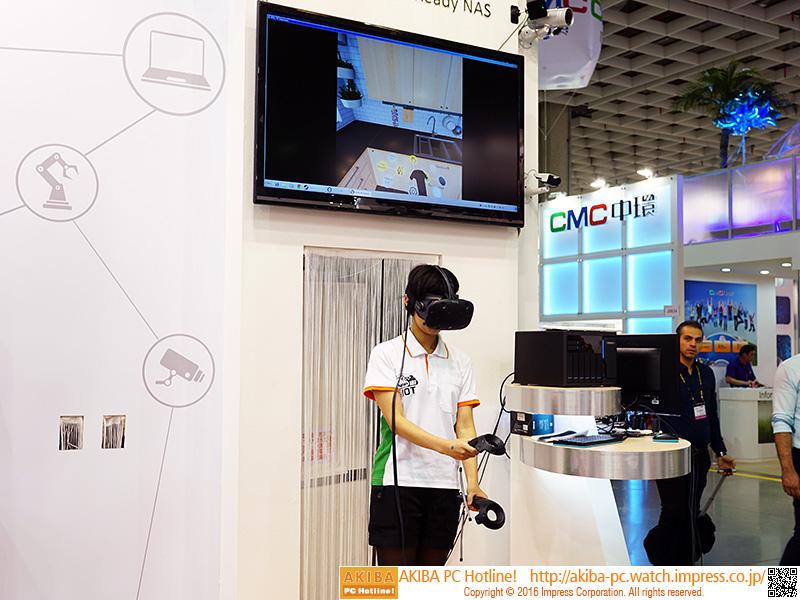 VR空間に入ってキッチンを歩き回ることができるた。