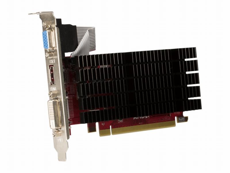 <b>AMD Radeon HD 5450</b><br>5年前に登場したGPUだが、リフレッシュレート30HzながらHDMIで4K液晶への出力が可能。最安価格だと3,000円を割るショップもあるので、最低限の投資で4K出力を得たいときに活躍