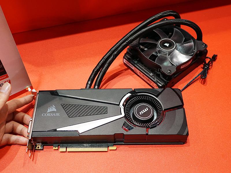 水冷使用のカード「SEA HAWK」シリーズのGeForce GTX 1080。