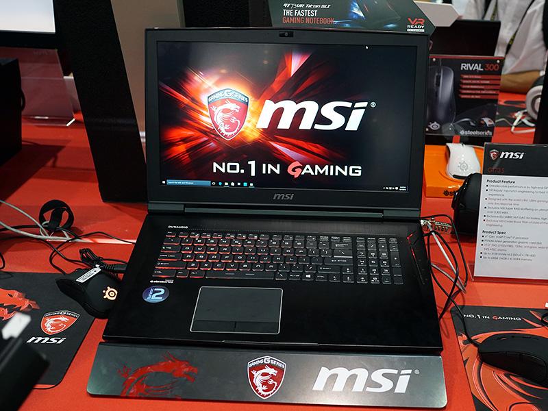 SLI対応の17.3型のゲーミングノートPC「GT73S」。