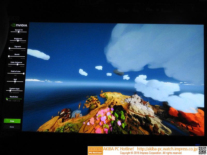 ANSELでは、ゲーム中のあらゆるシーンを自由なアングルやレンズを使って撮影することができる