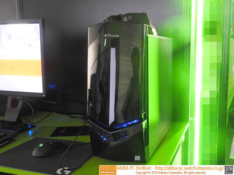G-TUNEブランドのGeForce GTX 1080搭載ゲーミングPC