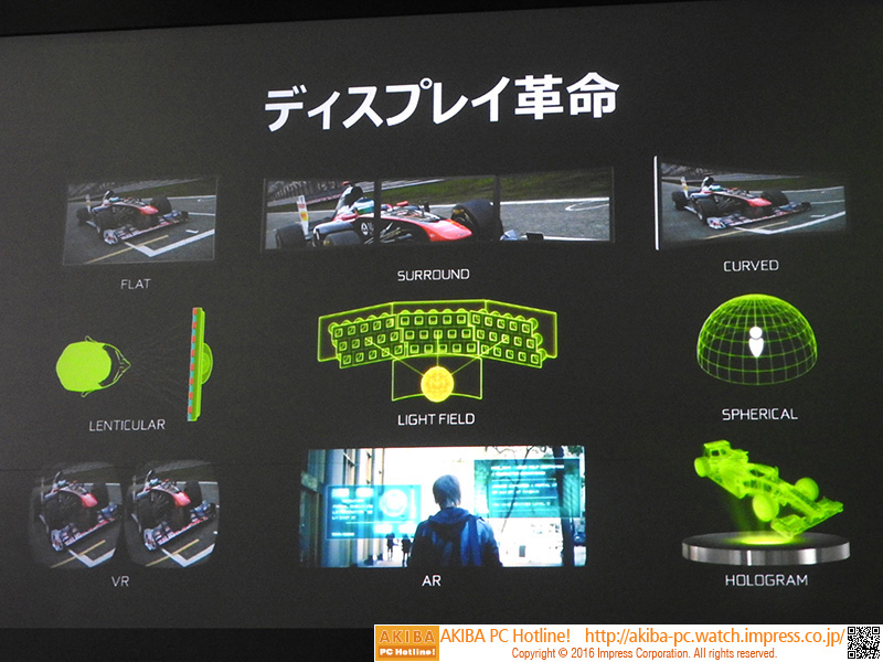 従来はフラットだったディスプレイにも革命が起こっており、カーブやサラウンド、さらには球形やホログラム、VRといった新しいディスプレイが誕生している