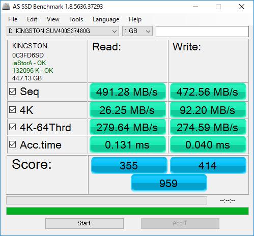 テストサイズ:1GB時(標準設定)