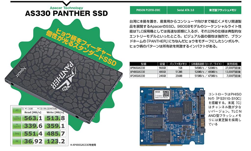 Apacer AS330 PANTHER SSD
