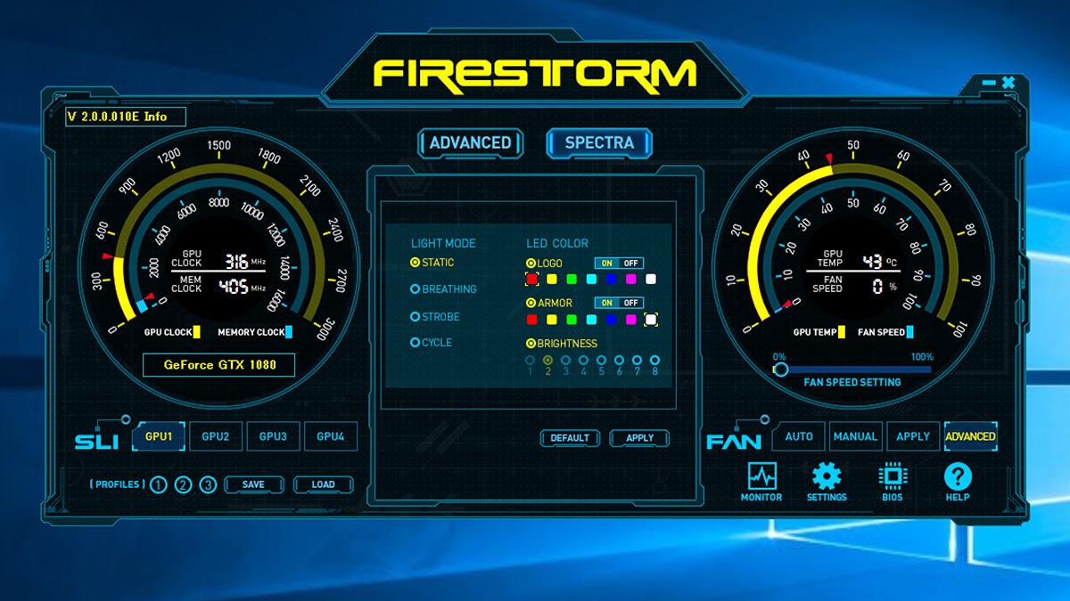 LEDエフェクト機能「SPECTRA」もこのFireStormから制御可能。電源を切ったあとも設定を記憶してくれるのもポイントだ。