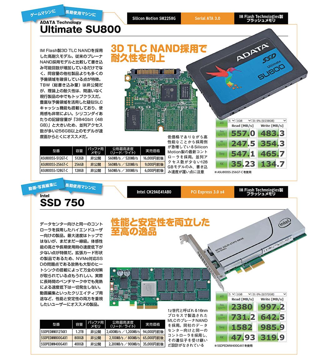 ADATA Technology Ultimate SU800 / Intel SSD 750