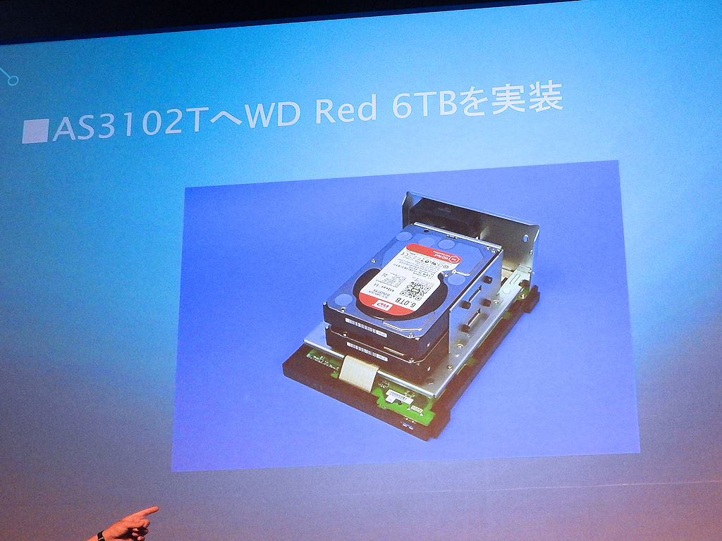 AS3102TにWD Redを実装したところ