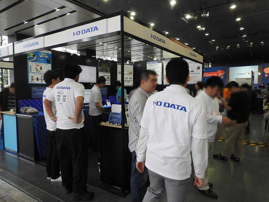 コンシューマー向けNAS製品を中心に展示していたアイ・オー・データ機器ブース