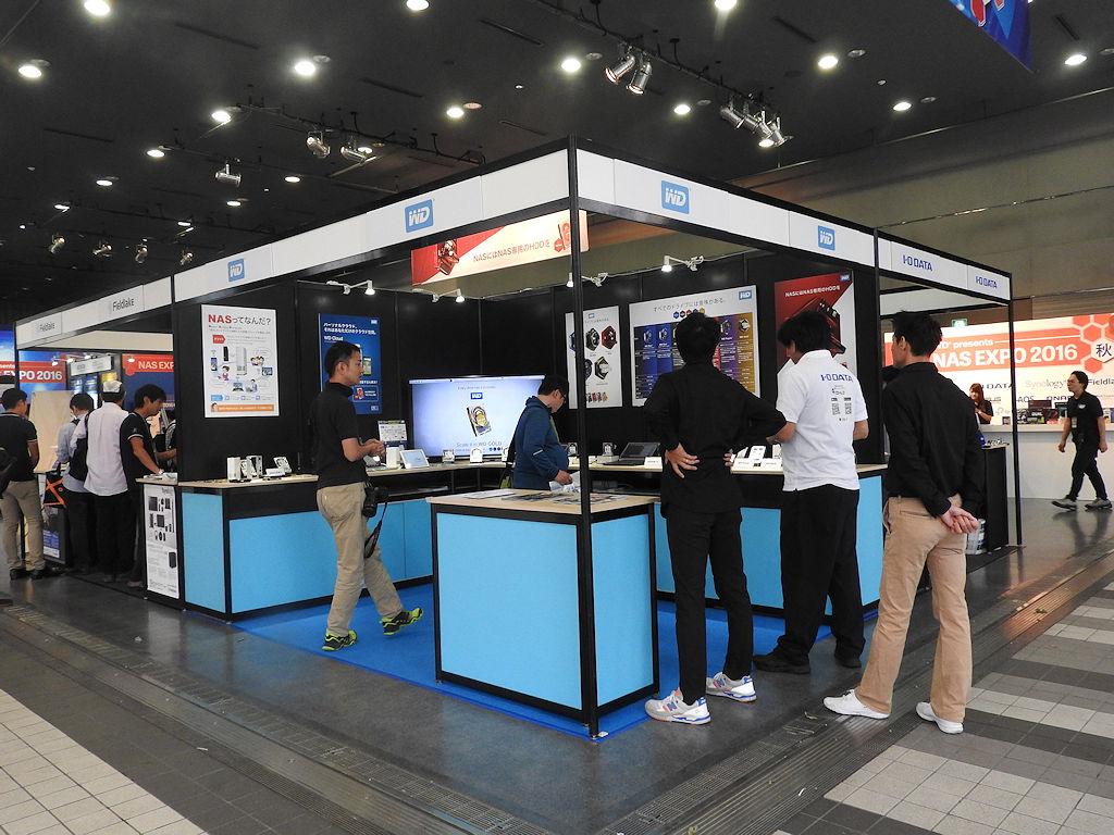 NAS用HDD「WD Red」を中心に展示を行なっていたWestren Digitalブース