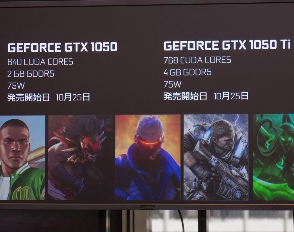 GeForce GTX 1050および同1050 Tiの両者を比べたときに目を引く差異はCUDAコア数とVRAMの容量