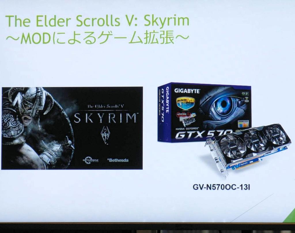 前作『Oblivion』につづいて多くのMODがリリースされた『The Elder ScrollsV: Skyrim』