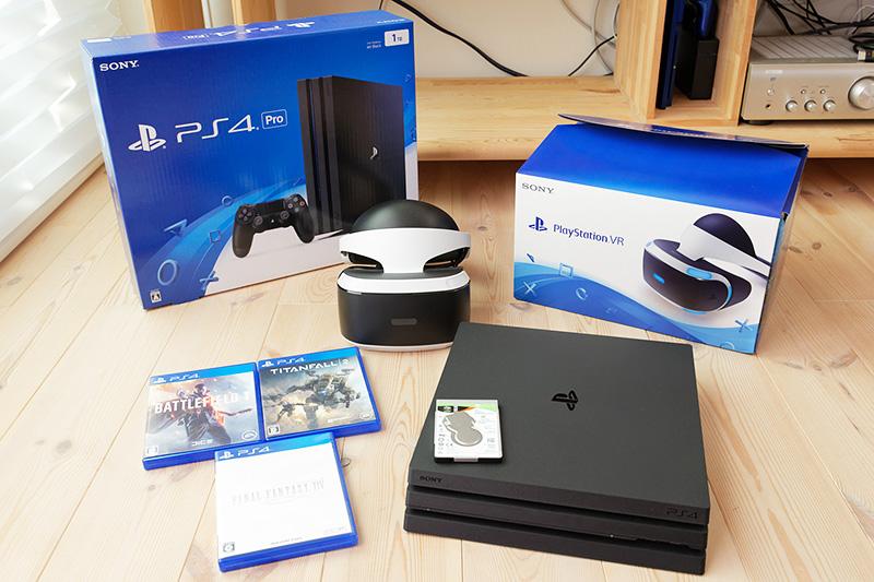 検証に用いた機材。PlayStation VR対応ゲームも試す