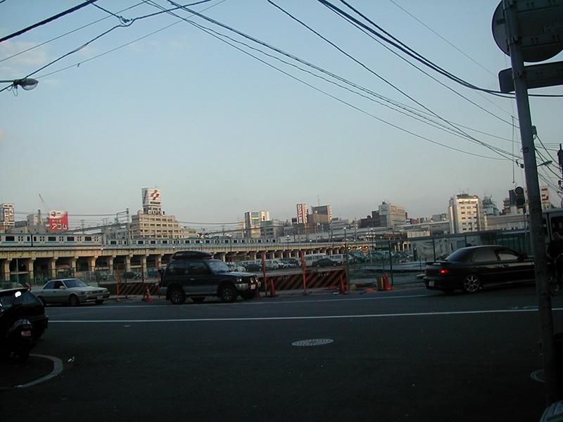 神田青果市場跡。撤去が完了した秋葉原駅前(1999年5月)