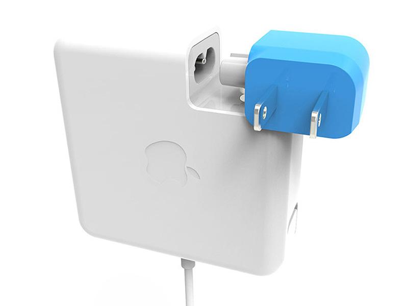 Apple製品のACアダプタに装着できる