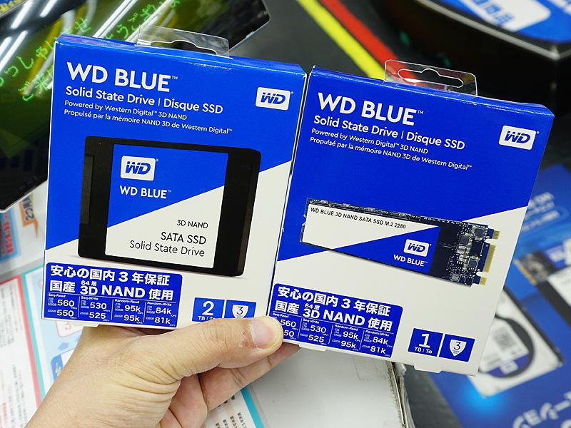 64層3D NANDフラッシュメモリ採用の「WesternDigital WD Blue」