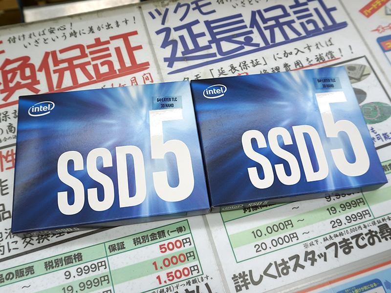 64層3D NANDフラッシュメモリ採用の「Intel 545s」