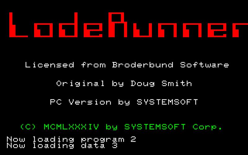 PC-8001mkII用やPC-6001用のテープ版は、ロード時に少し凝ったエフェクトを伴ってタイトルなどが表示されます。ちょっとしたことですが、長いロード時間を紛らわす楽しみが入っていると、それだけでゲームも期待できたものでした。