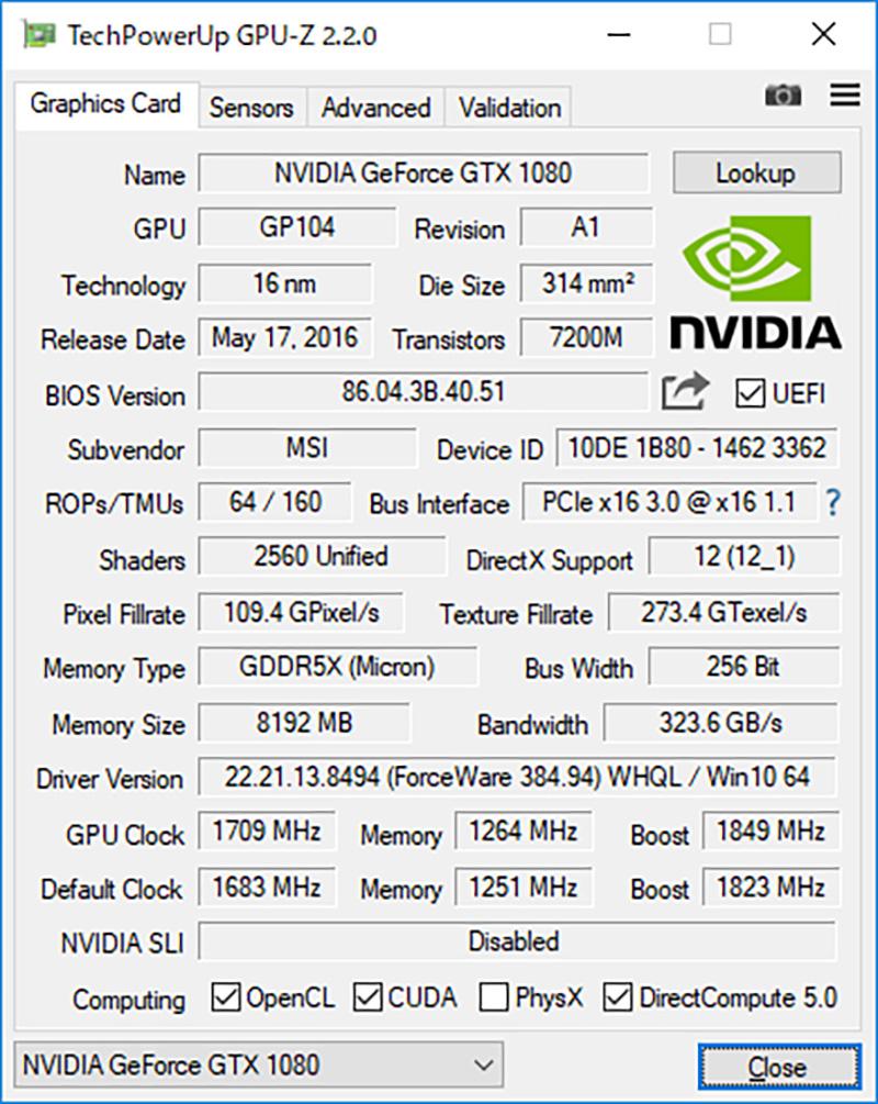 GPUのリファレンスクロックに対して軽めのOC仕様であり、安定性と静音性のバランスがよい
