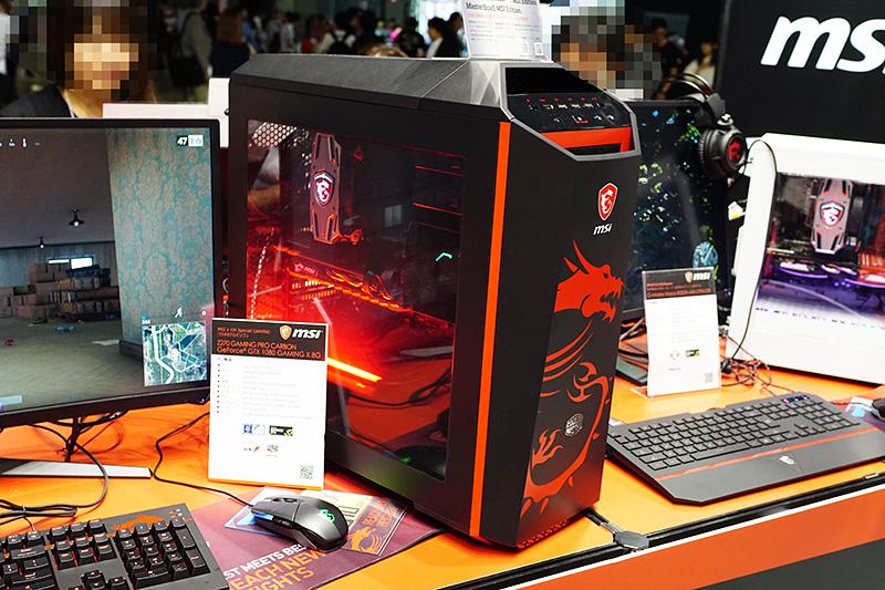 「MSI x Cooler Master ドラゴンKIT」を使用したMSIのコンセプトPC