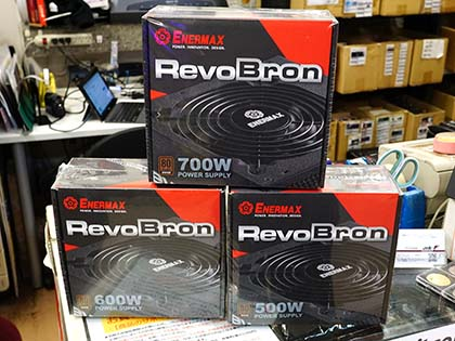 PC起動時にファンが逆回転する電源「RevoBron」が発売、ENERMAX製