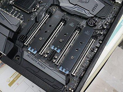 MSIのCoffee Lake-Sマザーは計9種類、PCI搭載モデルもあり M.2スロットはマザー上に3基