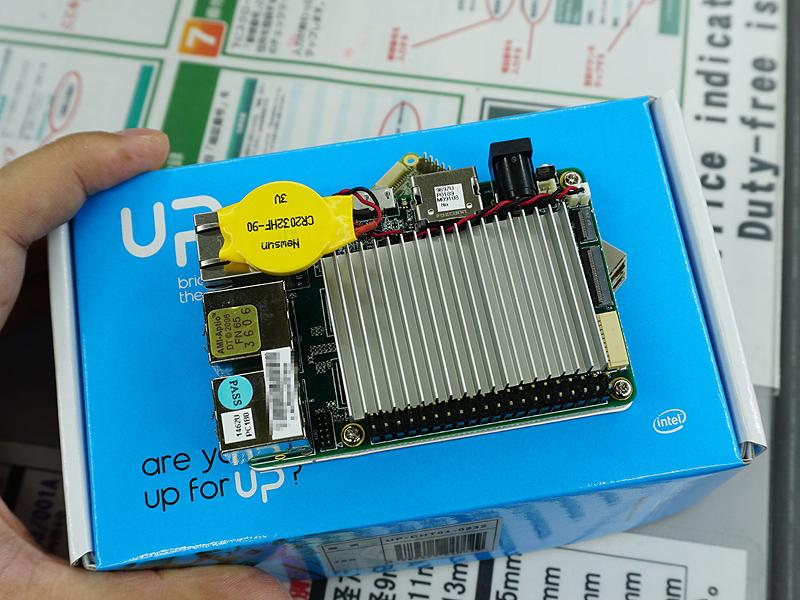 UPボード(写真はメモリ2GB/eMMC 32GBモデル)
