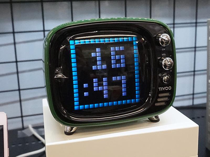 自作のドット絵を表示できるレトロテレビ風デザインのBlueoothスピーカー「TIVOO」が近日発売