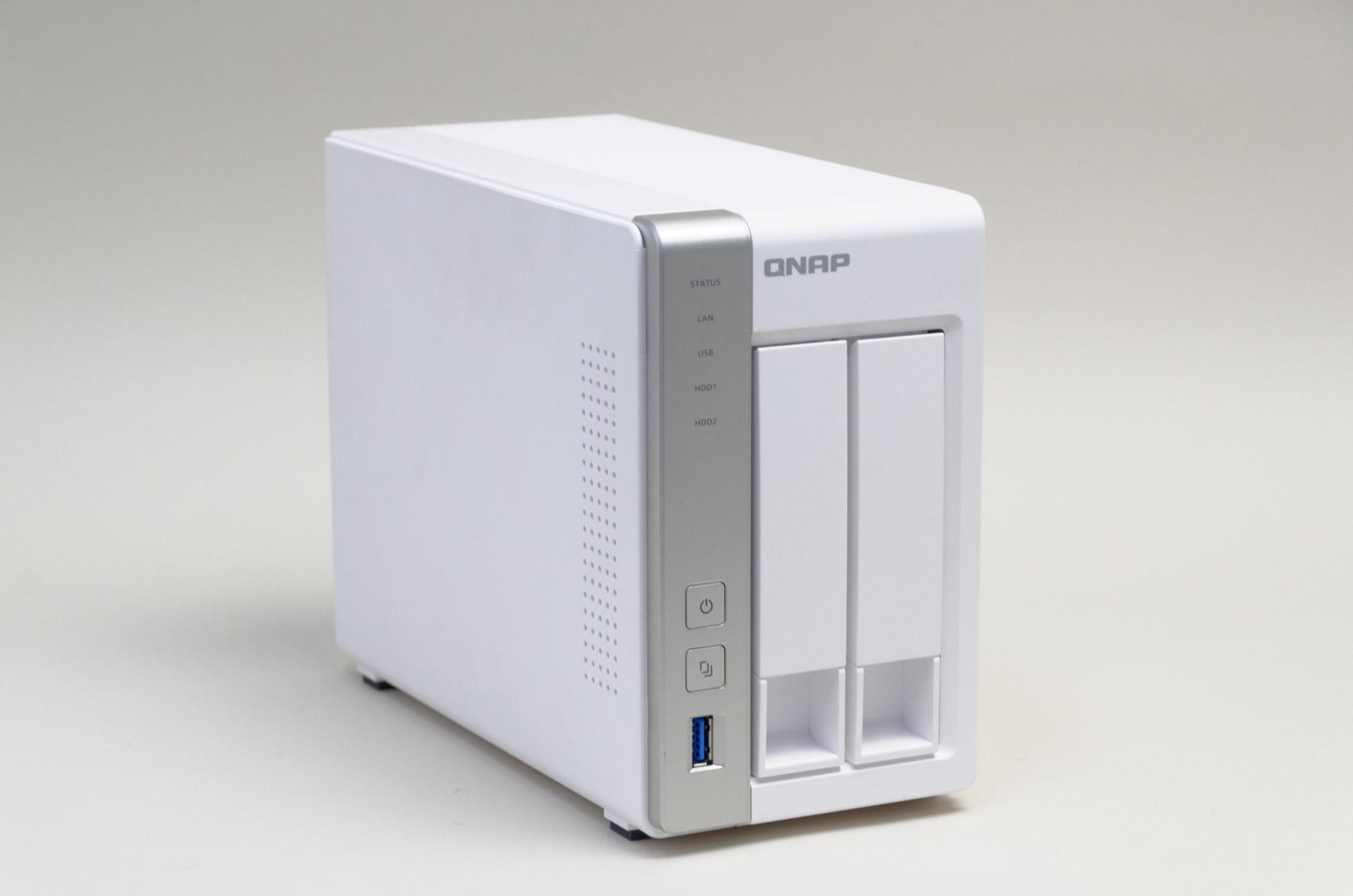 QNAP製NASキットのエントリーモデル「TS-231P」、実売価格も税込23,000~25,000円前後と導入しやすい。