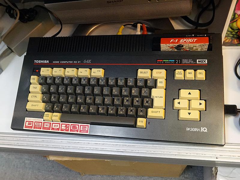 MSX本体は「パソピアIQ HX-21」