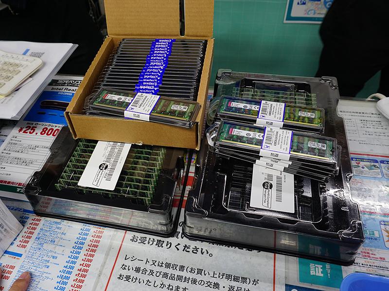 1枚64GBのDDR4メモリが大量入荷
