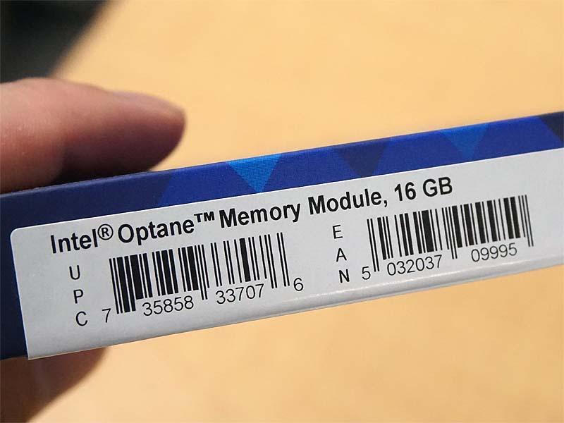 IntelのOptaneメモリーモジュール