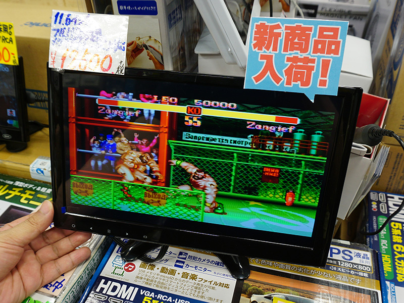 SZ-LCDMN-116(ゲーム画面はRCA入力の映像)