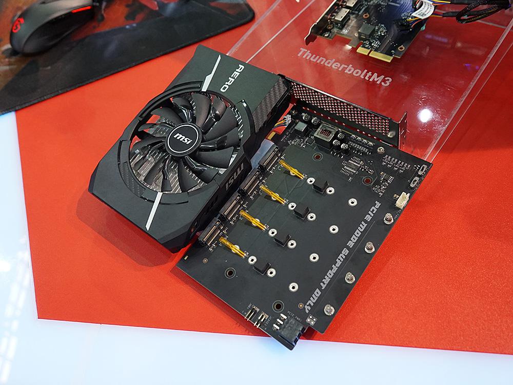 オプションの「MSI XPANDER-AERO」を装着することで、合計7基のM.2スロットを利用できる