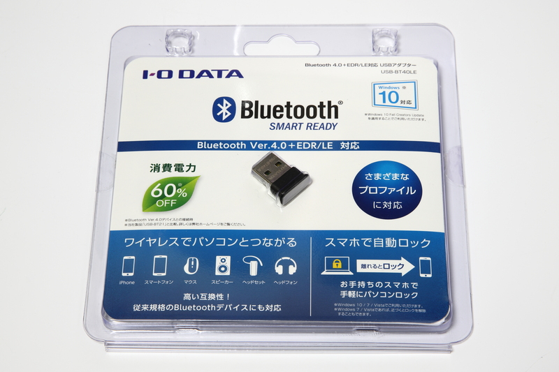 Bluetoothを備えていないデスクトップPCで利用する場合、Bluetoothアダプターを別途用意する必要がある。