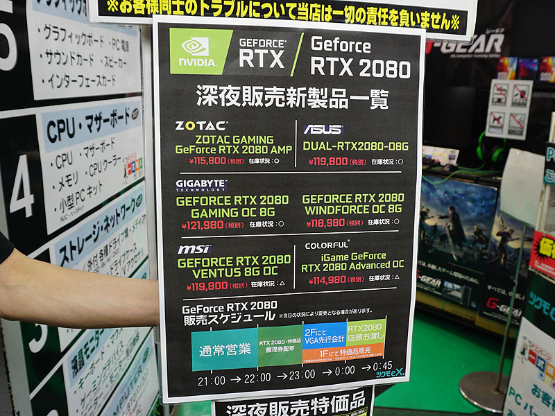 GeForce RTX 2080の価格
