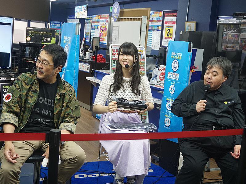 """左から""""改造バカ""""高橋敏也氏、声優の村井理沙子さん、NVIDIA 高橋一則氏"""