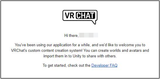 VisitorからNew Userにランクアップすると、ゲーム中とメールでアップロード機能開放通知を受け取ることになる。