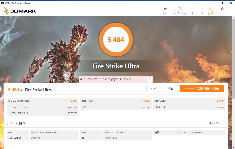 GeForce RTX 2070のスコア