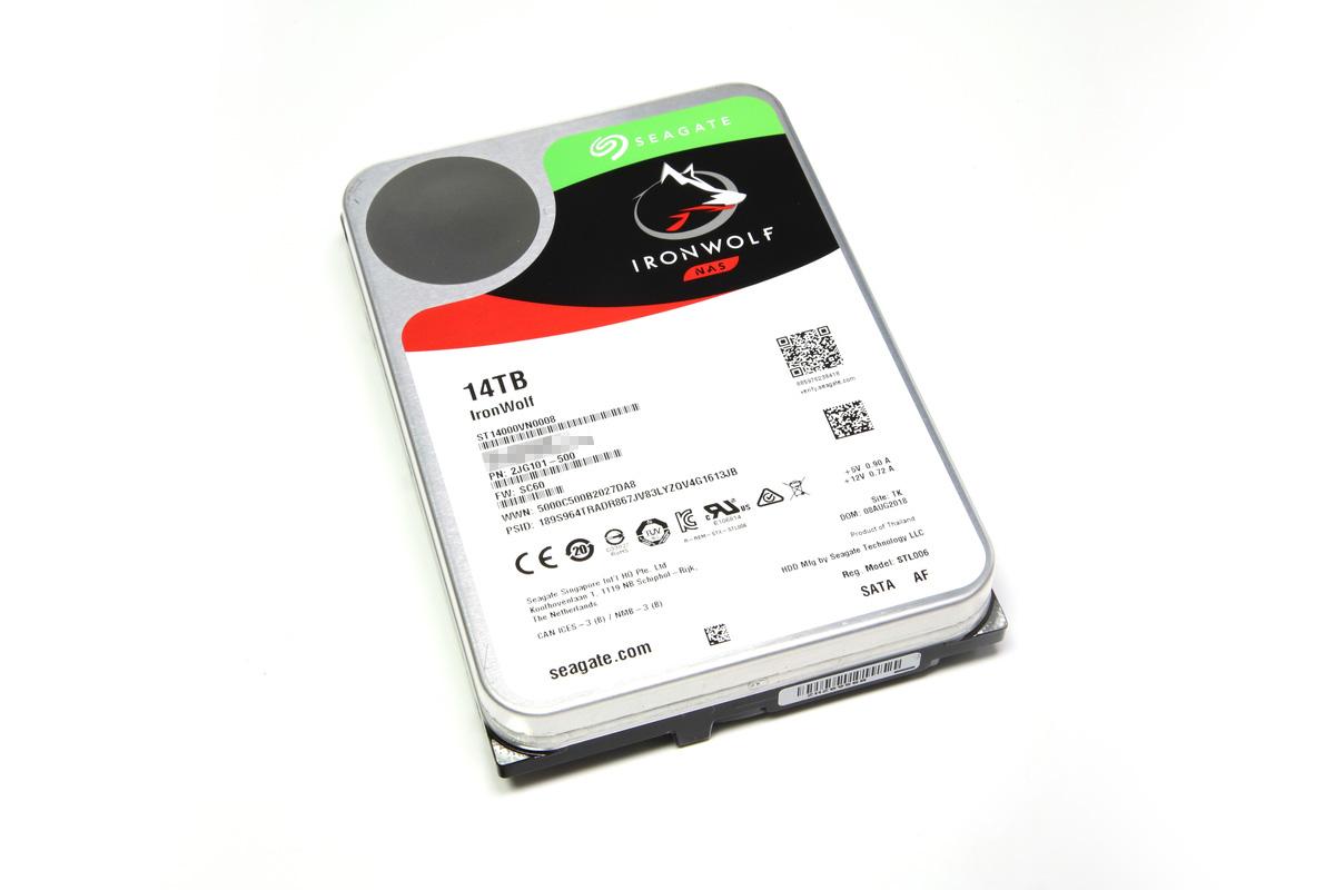 Seagate ST14000VN0008。ヘリウムガス封入技術によって14TBを実現したHDD。