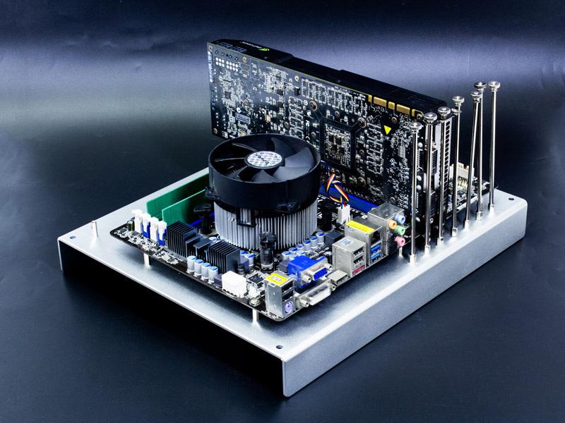 ATXアルミチェック台 シルバーの使用例