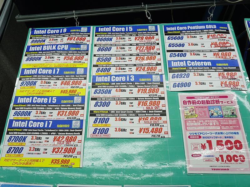 税抜き3万円以下のモデルは売り切れが多い