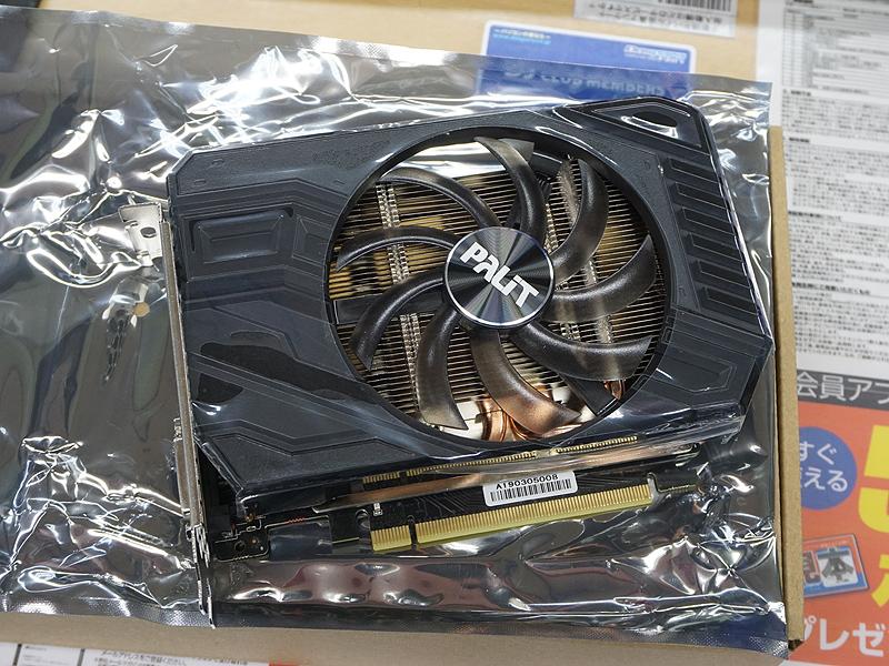 写真はPalit GeForce GTX 1660 StormX OC(NE51660S18J9-165F)