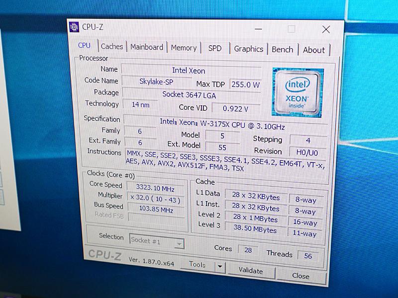 Xeon W-3175Xを搭載