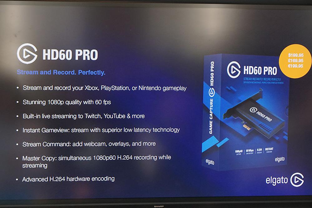 拡張カード型でハードウェアエンコーダ搭載の「HD60 PRO」。