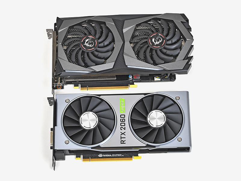 カード長は24.8cmとOCモデルのGeForce RTX 2060 SUPERとしては短いほうだが、GeForce RTX 2060 SUPER Founders Editionに比べると若干長い
