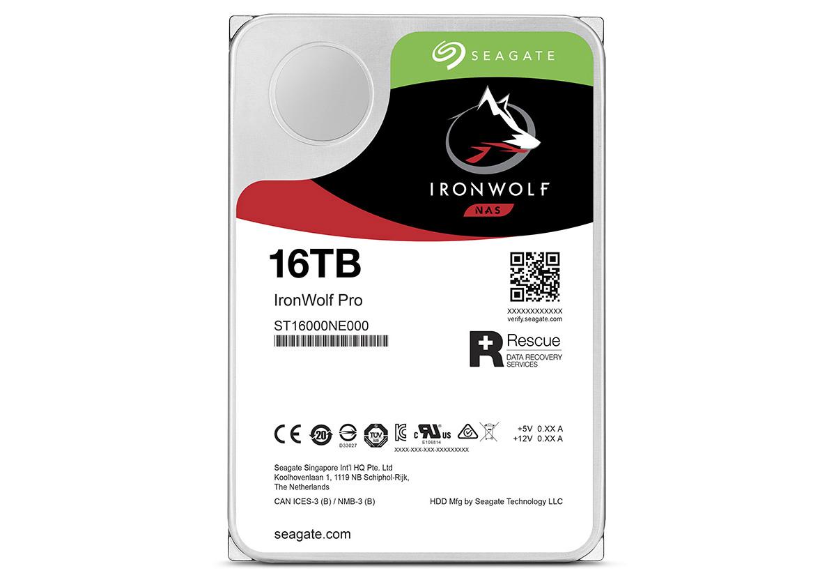 HDD版「IronWolf」の16TBモデル