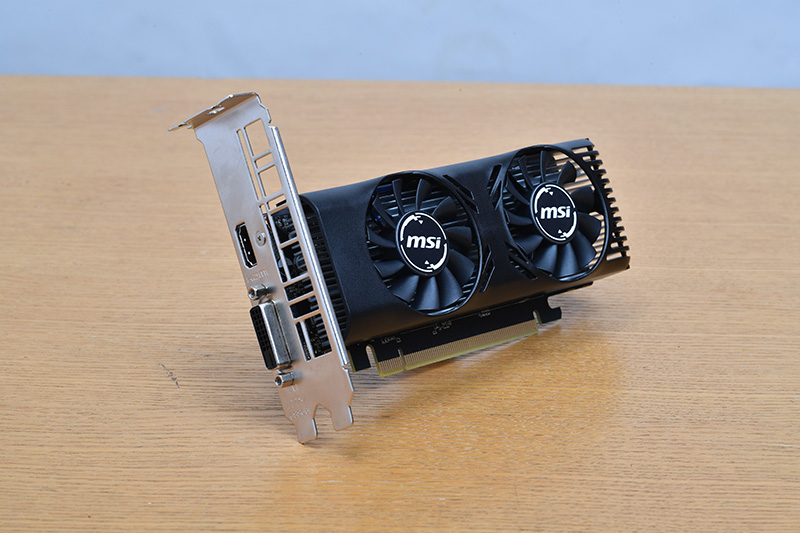 MSIのGeForce GTX 1650 4GT LP。実売価格は21,000円前後